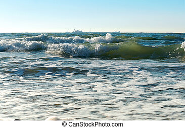 the waters of the Baltic sea, the sea and the waves