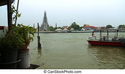 The waters of the Chao Phraya River in Thailand - A daylight...