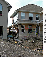 The Water's Path - Destroyed home directly in front of the ...