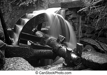 The waterwheel mechanical device - In rural China, the...