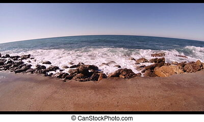 The waves of the Mediterranean Sea