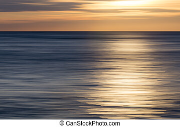 the waves of the sea during the sunset