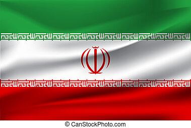 The waving flag of Iran