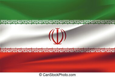 The waving flag of Iran