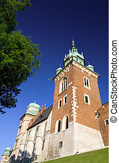 Part of he Wawel Royal Castle in Cracow, Poland built in 14th at the behest of Casimir III the Great, rebuilt by Jogaila and Jadwiga of Poland.