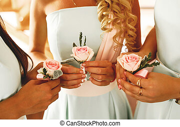 The wedding buttonhole