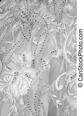 The wedding dress made manually it is very beautiful