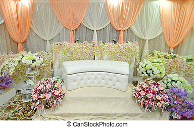 the wedding stage