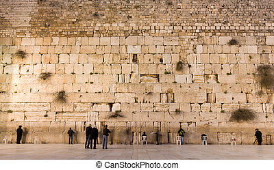 the Western Wall in jerusalem - the Western Wall in the old...