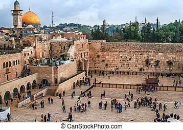 The Western Wall, Temple Mount, Jerusalem, Israel