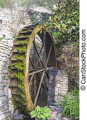 The wheel of old water mill.