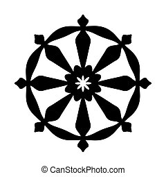 The Wheel of Samsara - Oriental Sacral Religious Symbol of...