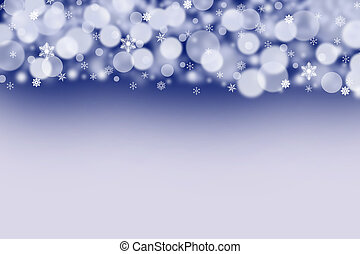 The white balls and snowflakes on a dark blue background