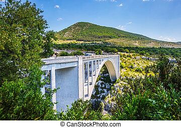 The white bridge over river Artuby