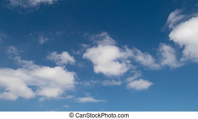 The white cloud with blue sky