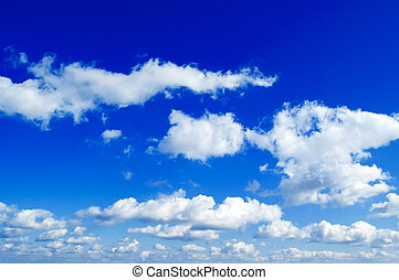 The white clouds on blue sky.