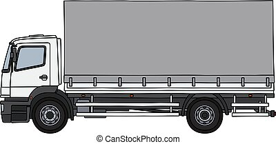 The white cover cargo truck
