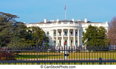 The White House at sunny day