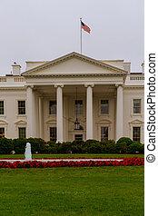 White House in Washington DC, closeup of southern facade