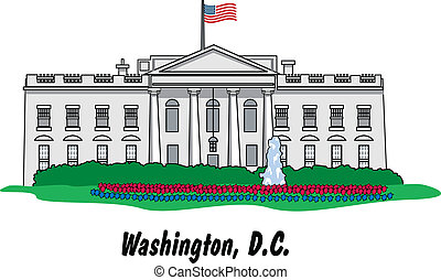 The White House In Washington, D.C. - The White House in...
