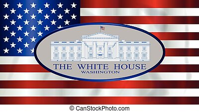 The White House Over Old Glory - The 'Stars and Stripes'...