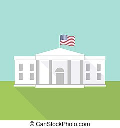 The White House vector illustration