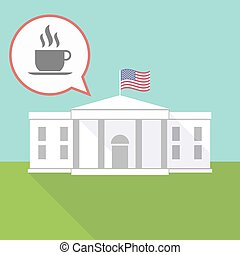 The White House with a cup of coffee