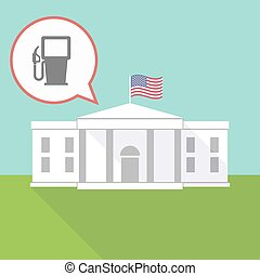 The White House with a gas station