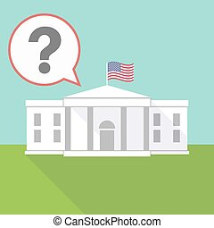 The White House with a question sign