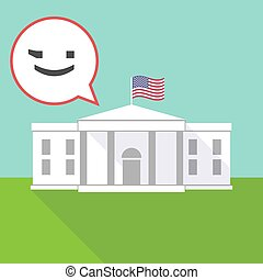The White House with  a wink text face emoticon