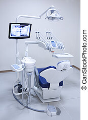 Dentist office - The white interior of a dentist office. ...