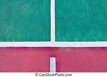 line on the tennis court