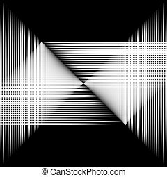 The white lines on a black background.