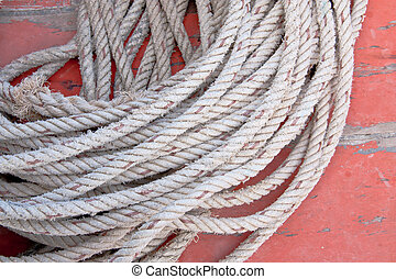 The white rope.