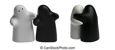 The white saltshaker and black pepper are the symbol of...