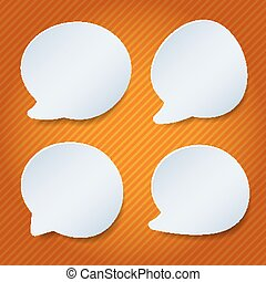 white speech bubble with space for text