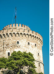 The white tower at Thessaloniki city