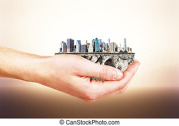 The whole city in your hands concept