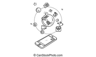 The Whole World In A Smartphone. With Alpha Channel - The...