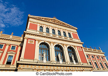 """The Wiener Musikverein (English: """"Viennese Music Association"""") is a famous Vienna concert hall. It was built in 1870."""