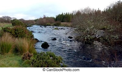 The wild and beautiful landscape next to the Owenea River by Ardara - County Donegal, Ireland.