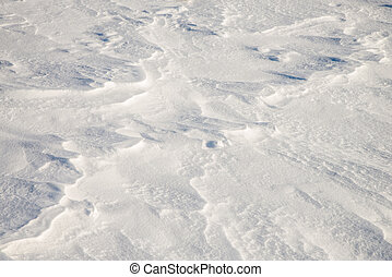 abstract pattern in the snow