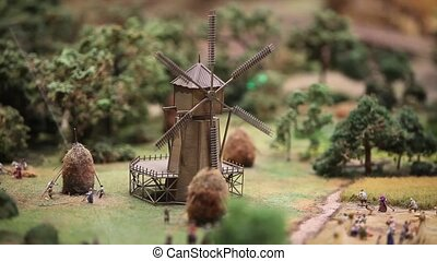 The windmill rotates