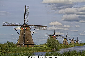 The windmills of Kinderdijk world heritage site
