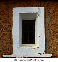 The window of an old church.