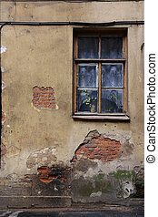 The window of an old house
