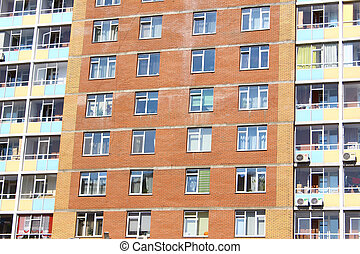 The Windows in the apartment house