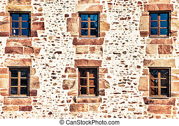 The windows of old house