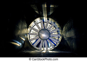 The windtunnel - The interior of an industrial windtunnel