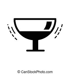 The wineglass icon black color